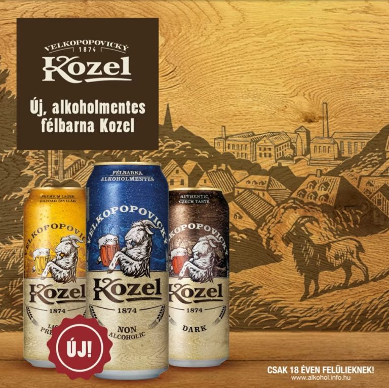 alkoholmentes félbarna Kozel